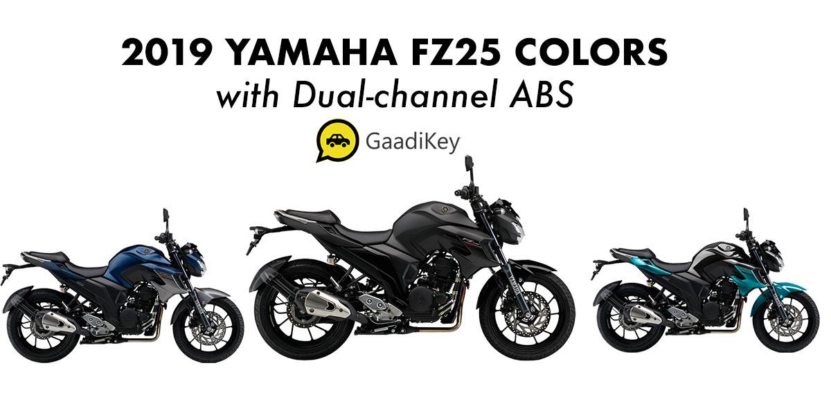 2019 Yamaha Fz25 Colors Black Cyan Blue Dark Blue Abs