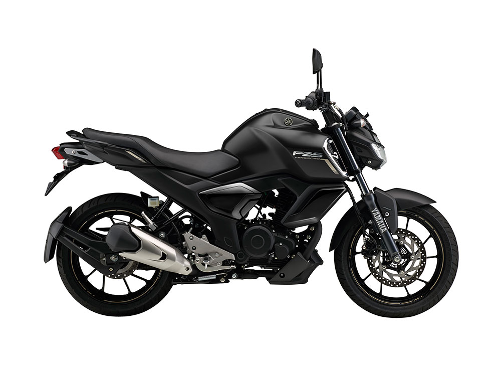 Yamaha FZS FI V3.0 Black Color - Yamaha FZS FI Matt Black Color