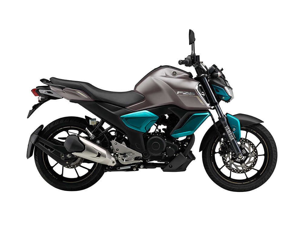Yamaha FZS FI Cyan and Gray Color - Yamaha FZ-S FI Gray and Cyan Blue Color
