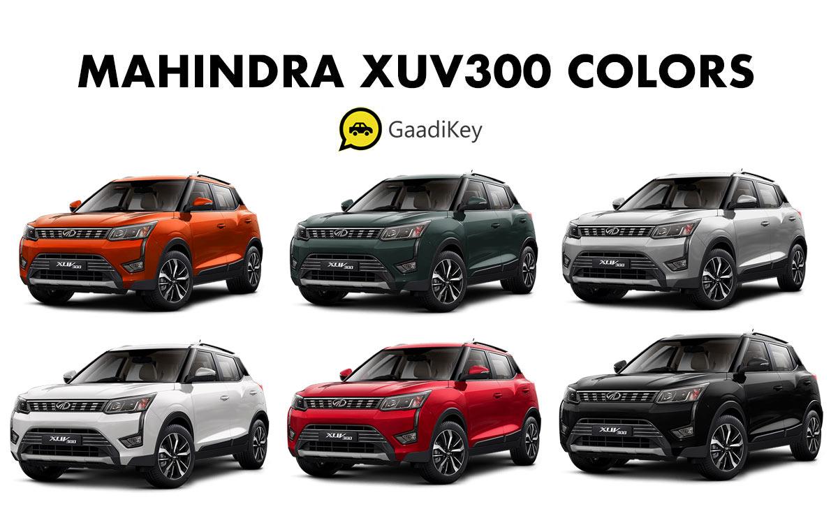 Mahindra XUV300 Colours - Mahindra XUV300 All Colors - 2019 XUV300 All Color options - Mahindra XUV300 Colors