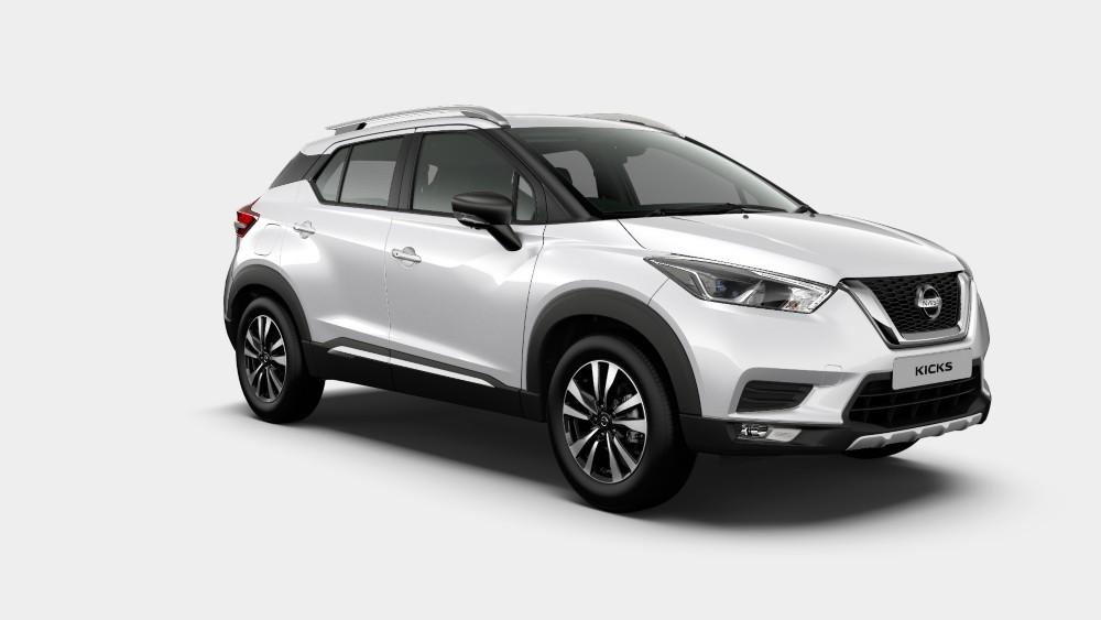 Nissan Kicks Pearl White Color