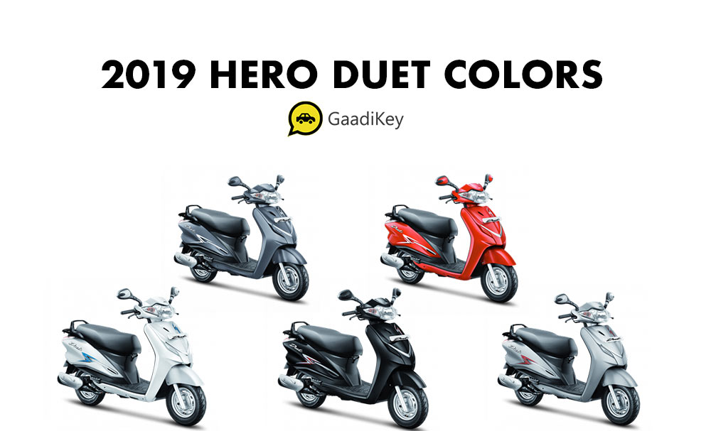 2019 Hero Duet Colors - 2019 Model Hero Duet Colour Options