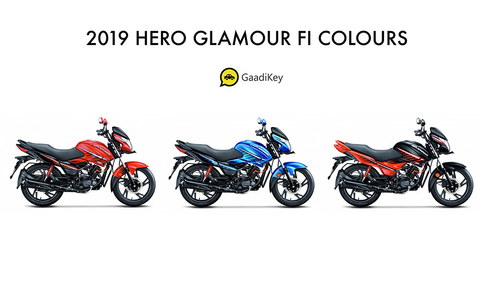 2019 Hero Glamour FI Colors- New 2019 Glamour FI Colors Photos - New 2019 Hero Glamour Colors Photos