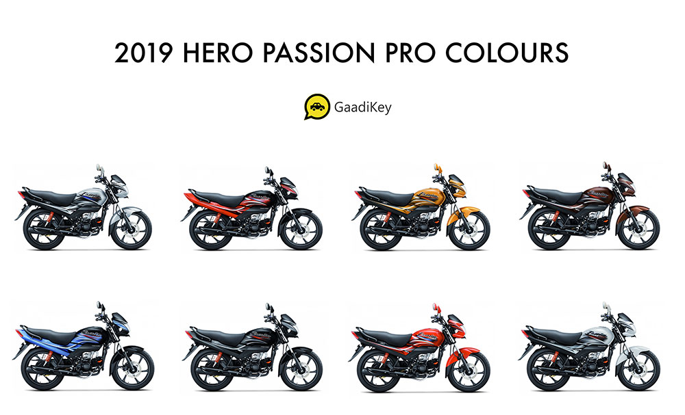 2019 Hero Passion Pro Colors - Hero Passion Pro 2019 model all colors