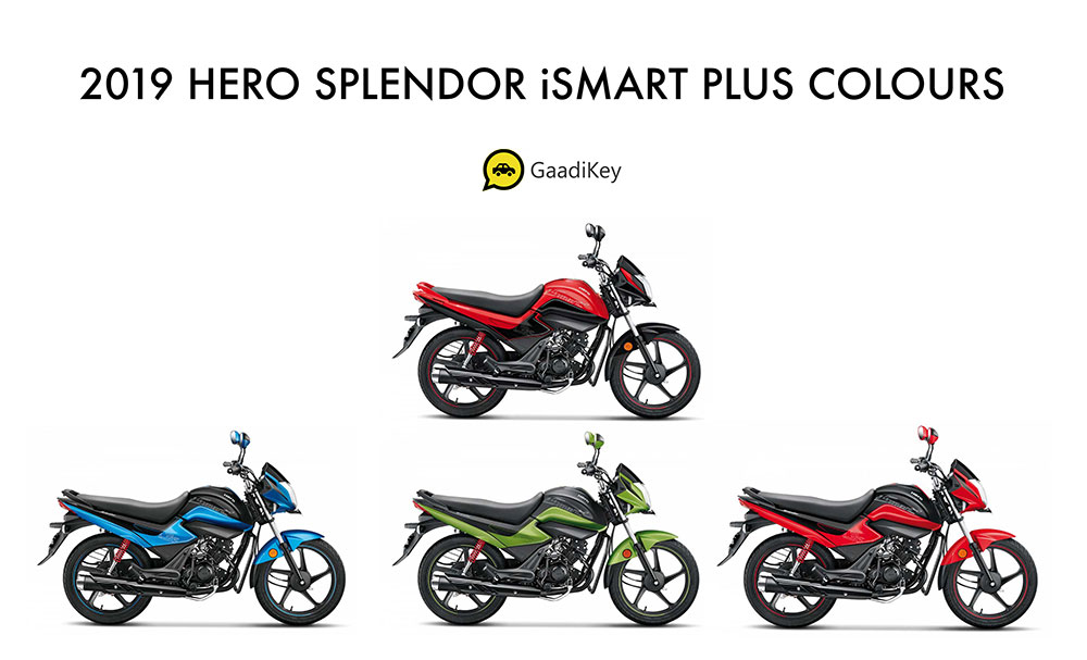2019 Hero Splendor iSmart Colors - All Colors Splendor iSmart - New Splendor iSmart 2019 model colors