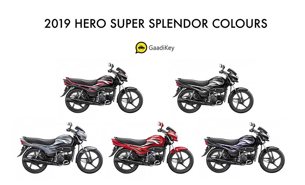 Hero Super Splendor 2019 Model Colors - New Hero Super Splendor 2019 model color options