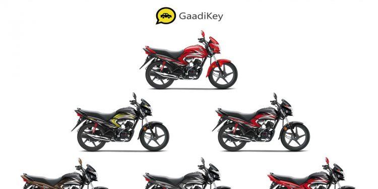 2019 Honda Dream Yuga Colors Black Red Yellow Brown Grey Gaadikey