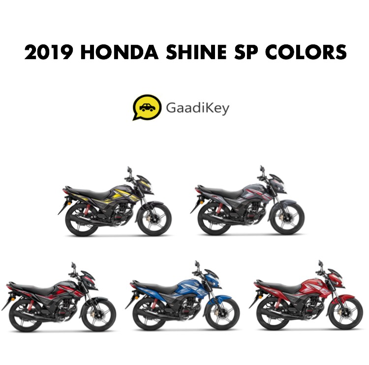 2019 Honda Shine Sp Colors Blue Grey Black Red