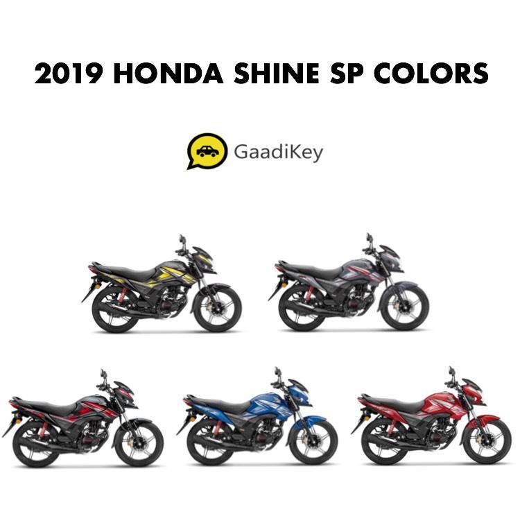 2019 Honda Shine SP Colors - Blue, Grey, Black, Red ...