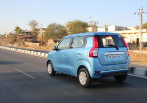New Maruti Wagon R Blue Color Test Drive Photo