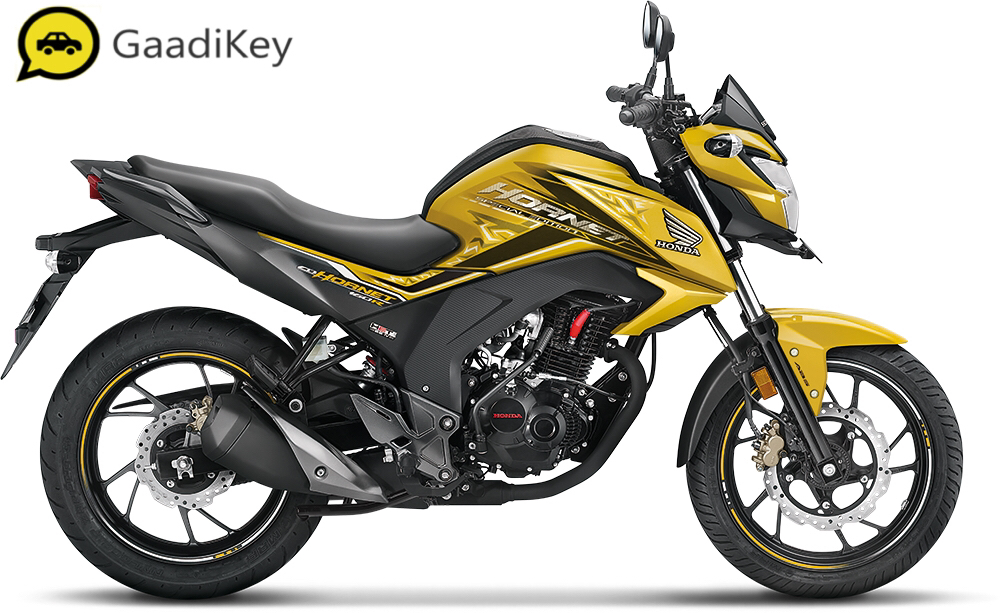 2019 Honda Hornet 160R in Dazzle Yellow Metallic color