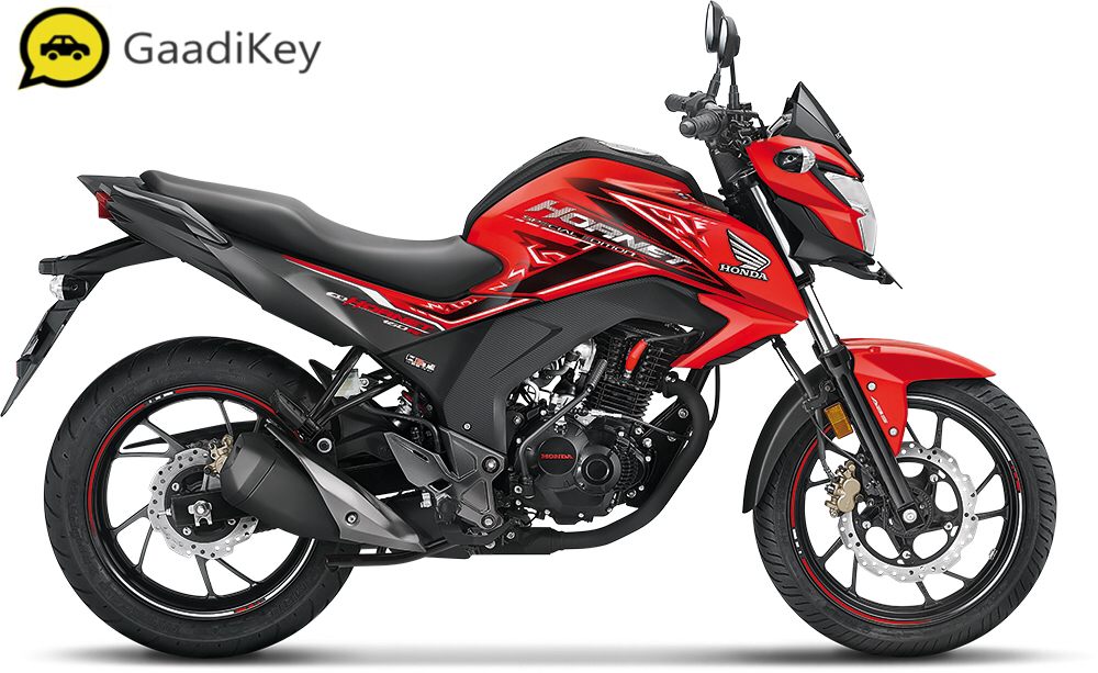 2019 Honda Hornet 160R in Sports Red color