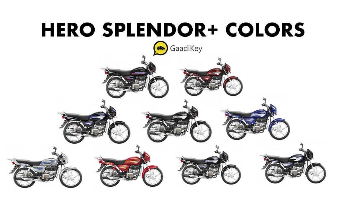 2019 Hero Splendor Colors - 2019 Hero Splendor+ IBS Colors, 2019 Hero Splendor Plus Colors, 2019 model Hero Splendor Plus all colors