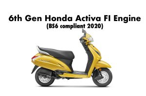 2020 model Honda Activa 6G with fuel injection engine BS6