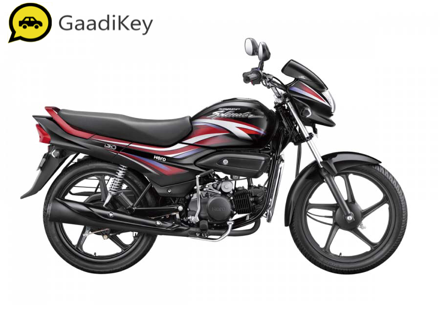 2019 Hero Super Splendor in Black with Fiery Red colour