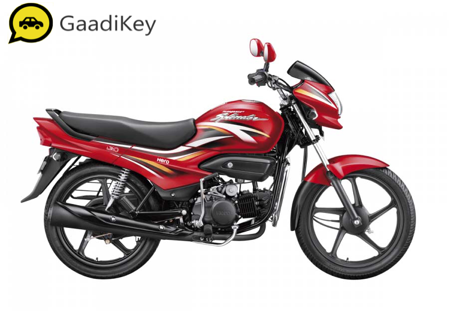 2019 Hero Super Splendor in Candy Blazing Red colour