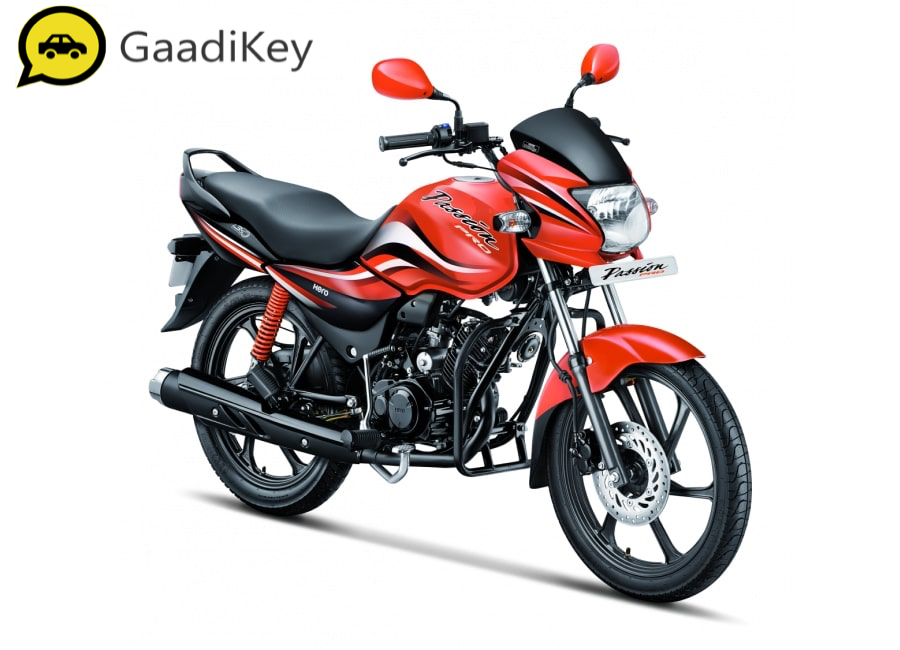 2019 Hero Passion Pro 110 in Sports Red Color