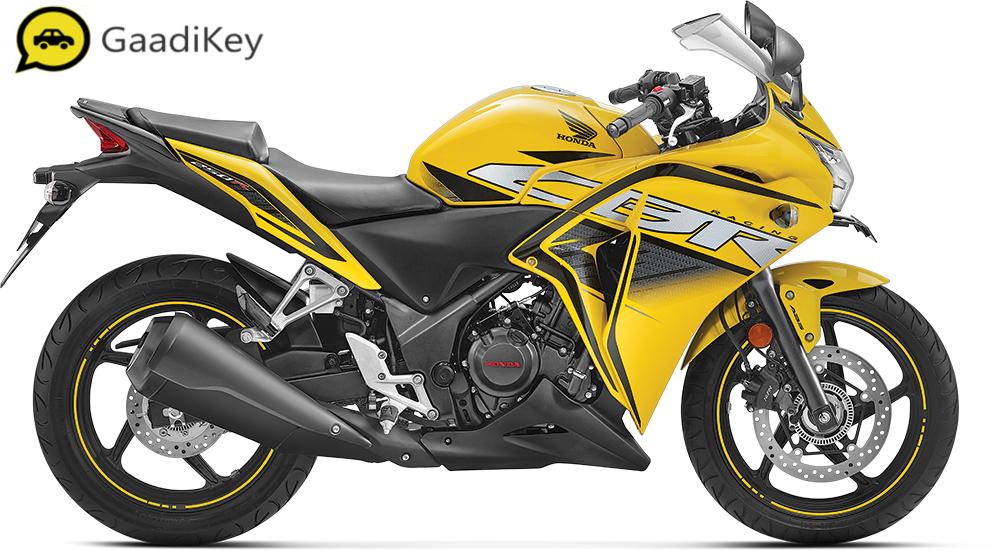 2019 Honda CBR250R in Pearl Sports Yellow color