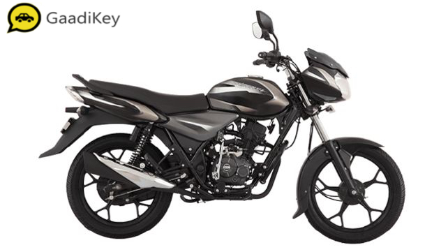 2019 Bajaj Discover 110 in Black with Grey Decals color