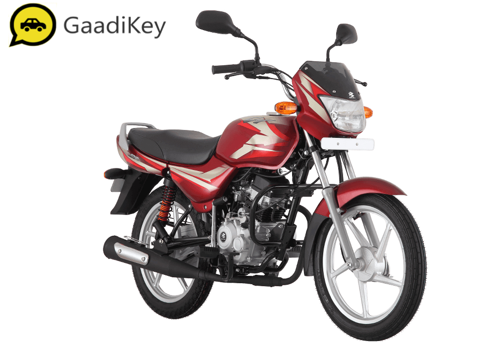 2019 Bajaj CT100 in Flame Red color