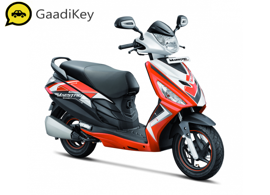 2020 Hero Maestro Edge in Sporty Matte Grey and Red colour