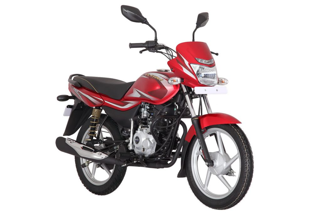 2019 Bajaj Platina 100 Red Color variant - CBS Option