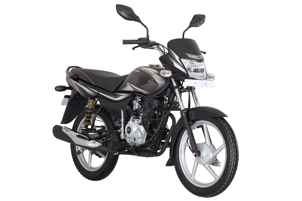 2019 Bajaj Platina 100 Black Color variant CBS Option