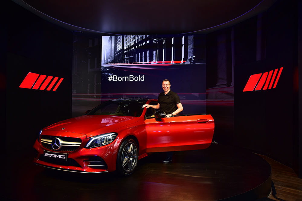 2019 Model Mercedes-Benz AMG C43 Coupe in Red Color Option