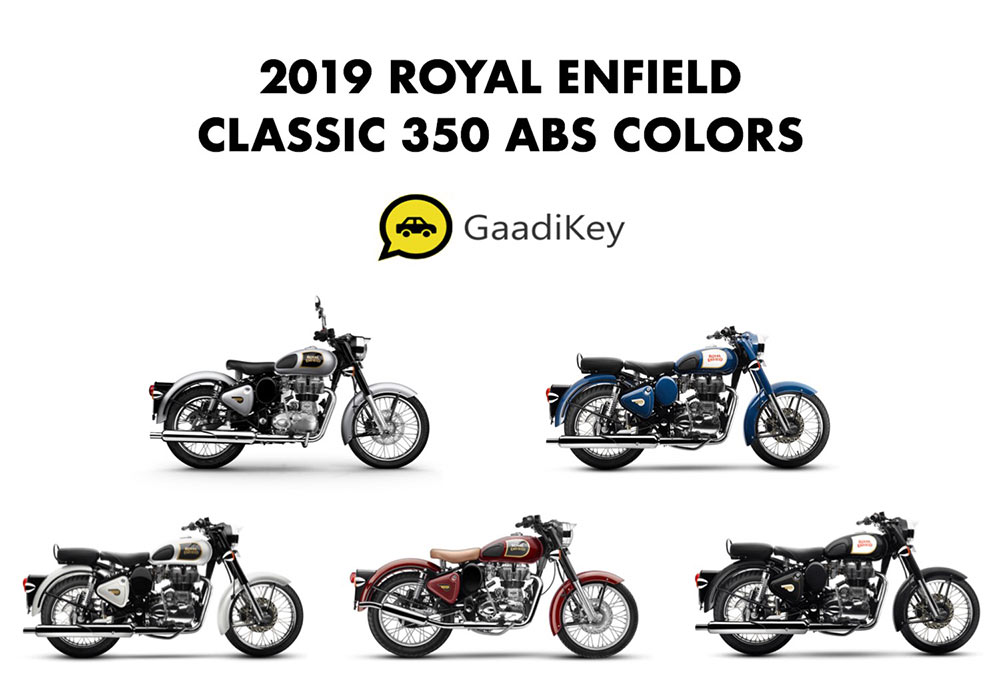 2019 Royal Enfield Classic 350 ABS Model Colors - Royal Enfield Classic ABS 350cc colors