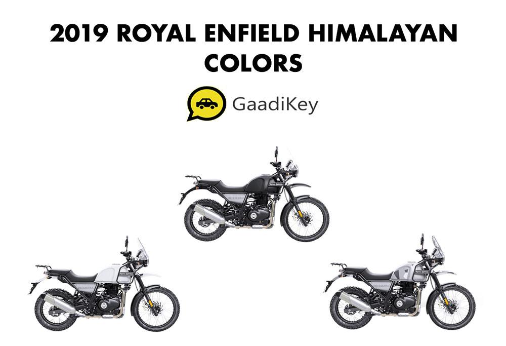 2019 Royal Enfield Himalayan Colors