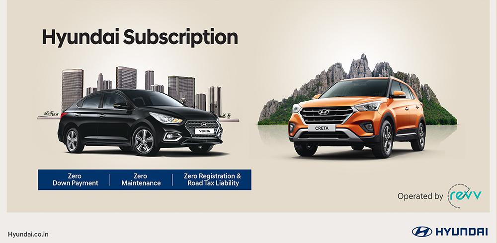 Hyundai Subscription by Revv.