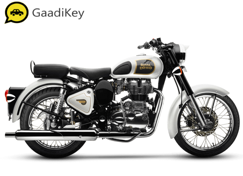 2019 Royal Enfield Classic 350 ABS in Ash color.