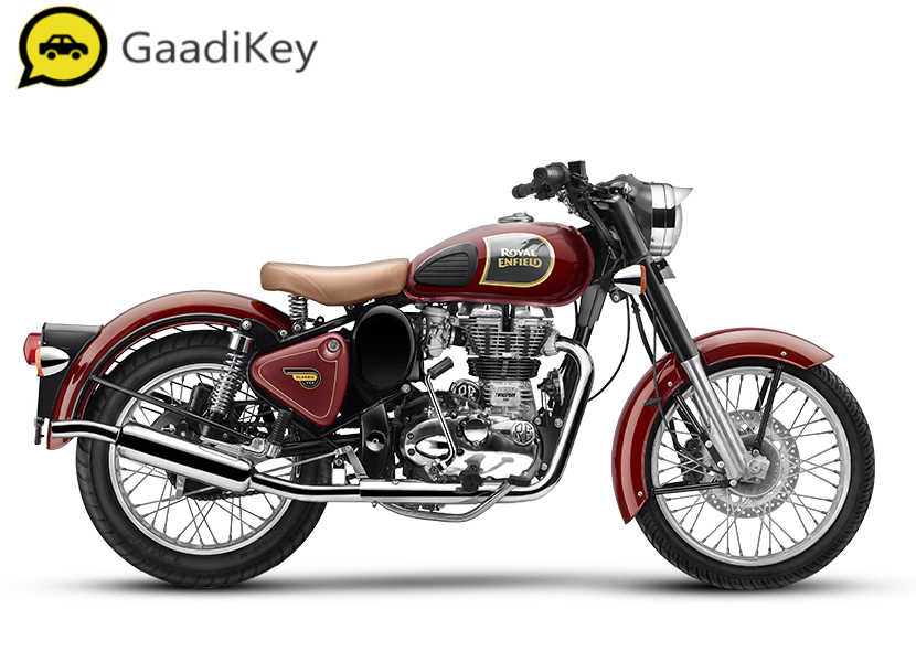2019 Royal Enfield Classic 350 ABS in Classic Chestnut color.