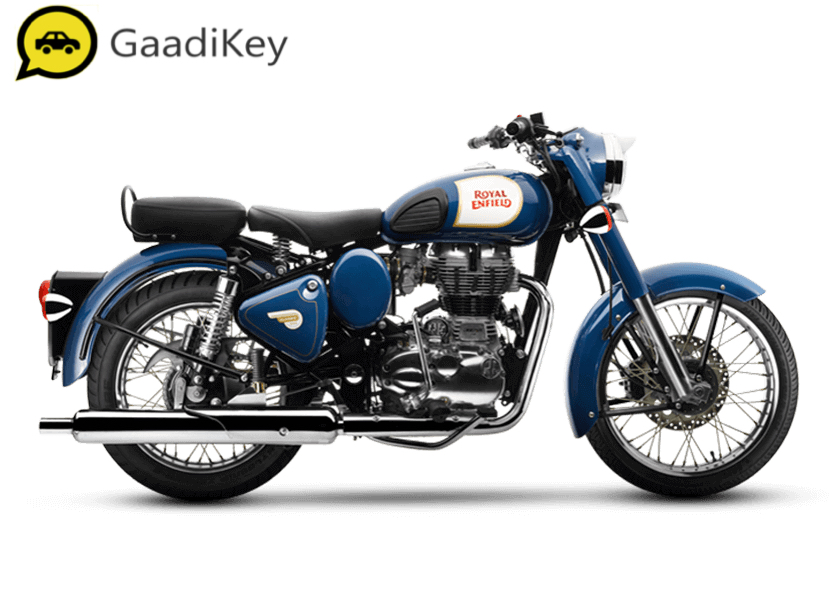 2019 Royal Enfield Classic 350 ABS in Lagoon color.
