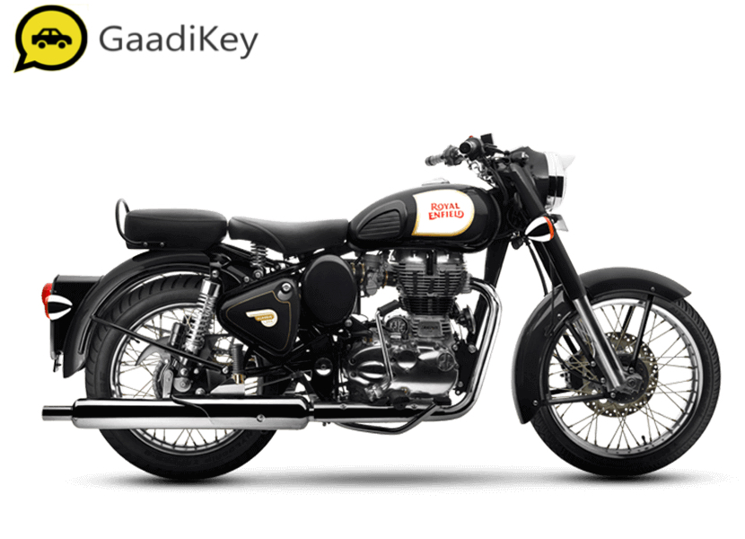 2019 Royal Enfield Classic 350 ABS in Classic Black color.