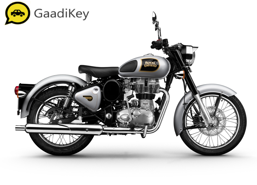 2019 Royal Enfield Classic 350 ABS in Silver color.
