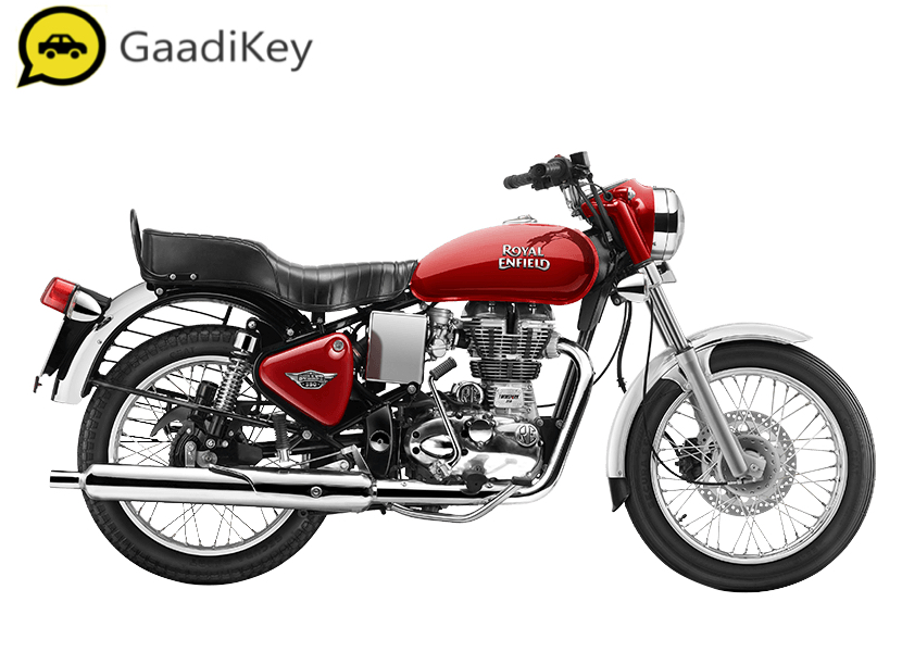 2019 Royal Enfield Bullet 350 ABS in Maroon color.
