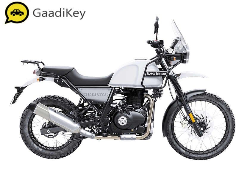 2019 Royal Enfield Himalayan in Snow color.