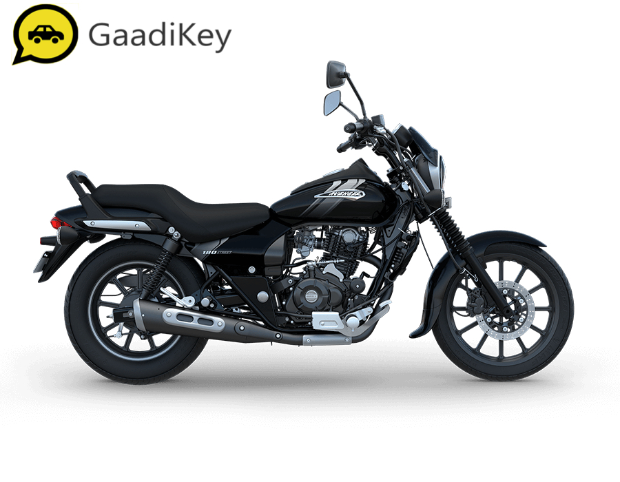 2019 Bajaj Avenger Street 180 ABS in Ebony Black color.