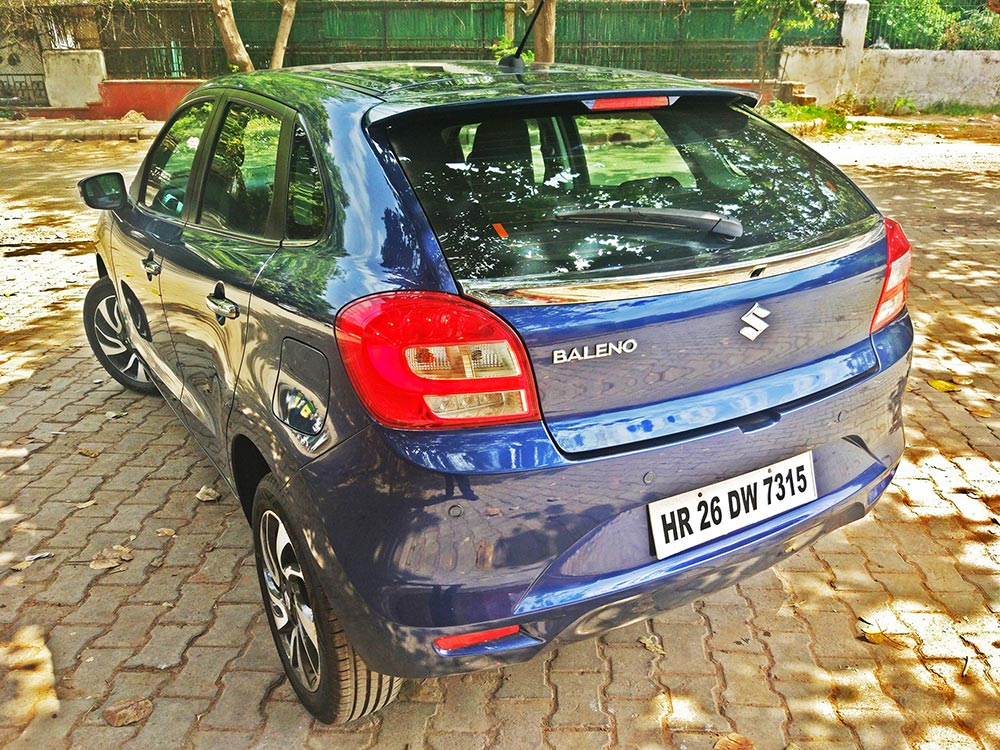 2019 Maruti Baleno Rear End, New Baleno 2019 Model Hatchback logo