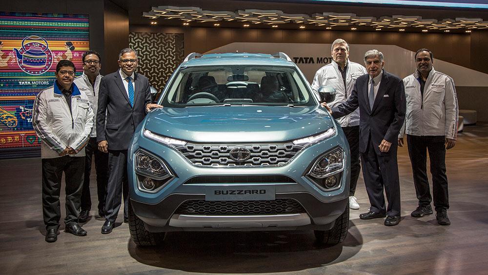 Tata Buzzard SUV Geneva Motor Show 2019 - Mr Ratan Tata on Stage