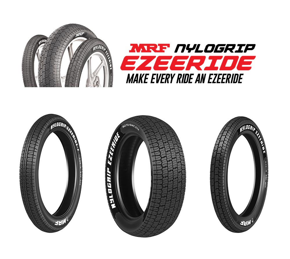 MRF Nylogrip Tyres for Royal Enfield motorcycles and Harley Davidson motorcycle