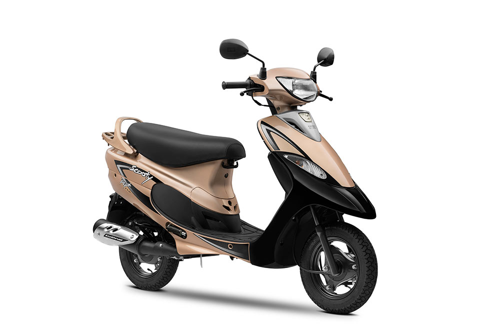 TVS Scooty Pep+ Gold Color