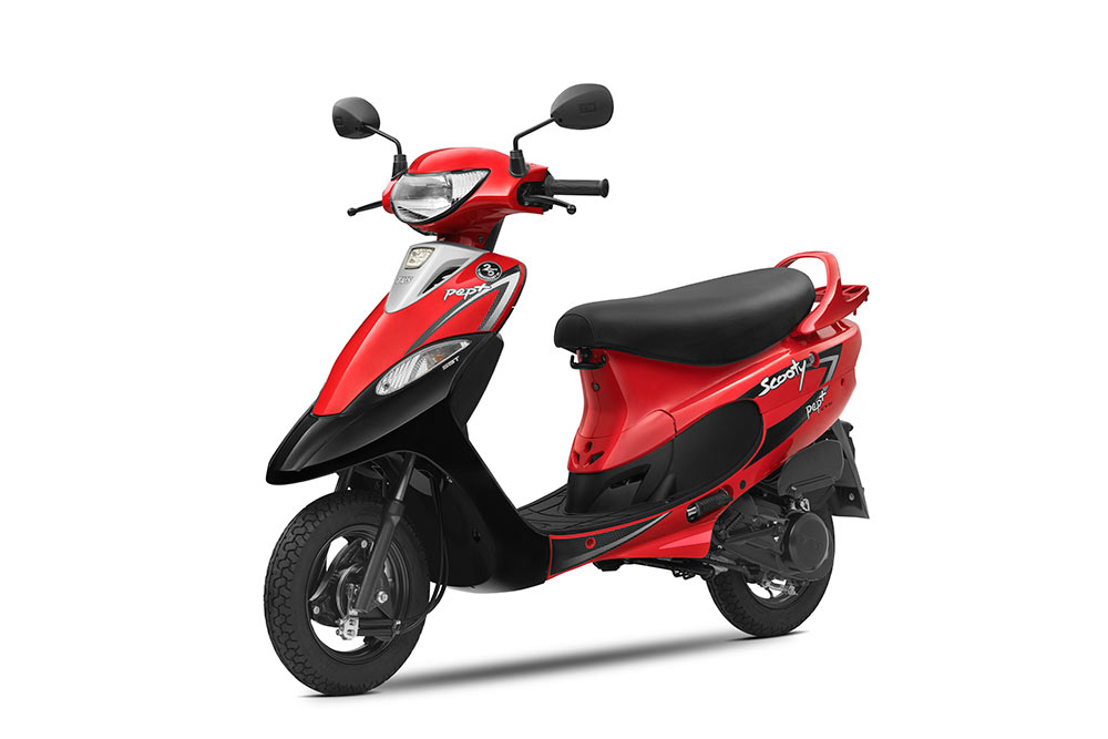 TVS Scooty Pep+ Red Color New