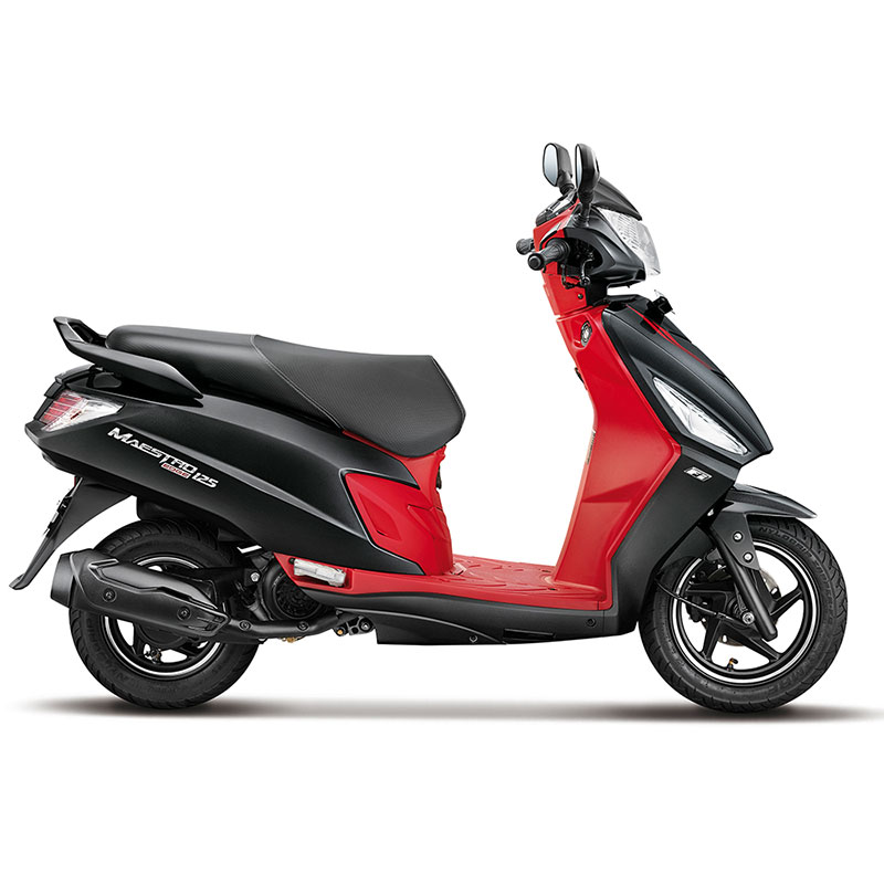 2020 Hero Maestro Edge 125 Panther Black with Red Color. New 2020 Hero Maestro Edge 125CC in Black and Red color option.