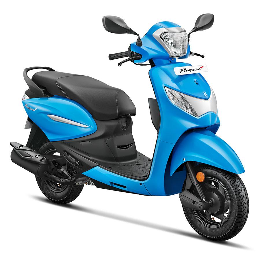 2020 Hero Pleasure+ 110 Blue Color .  New Hero Pleasure+ 110 Polestar Blue color 2020 model year