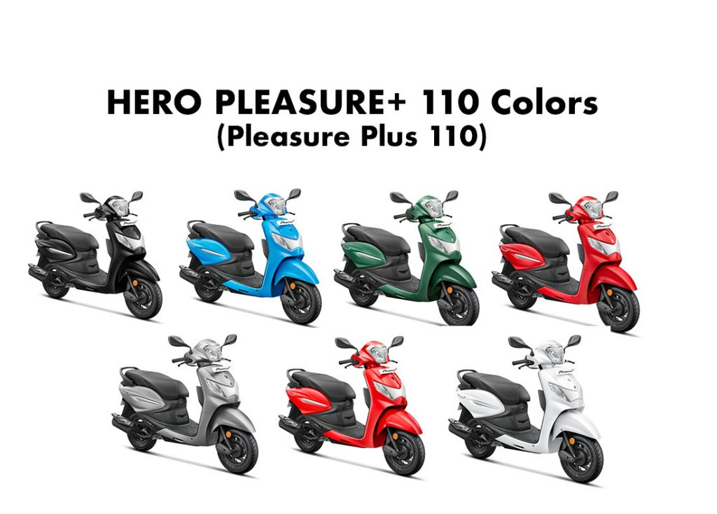 2020 Hero Pleasure Plus 110 Colors - All Colors Hero Pleasure+ 110 2020 model