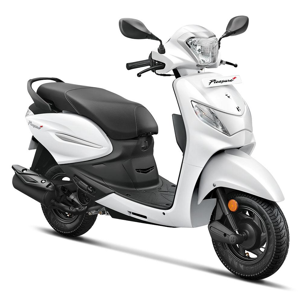 2020 Hero Pleasure+ White Color - Hero Pleasure+ Pearl Silver White Color variant 2020 year model