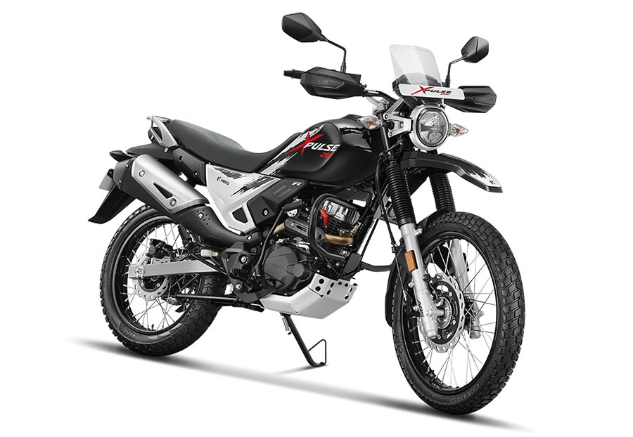 Hero XPulse 200 Motorcycle BlacK color option. New Hero XPulse 200 Panther Black color option