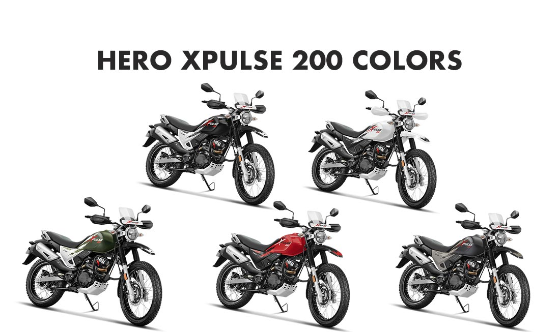 Hero XPulse 200 Colors: Red, Black, White, Green, Grey